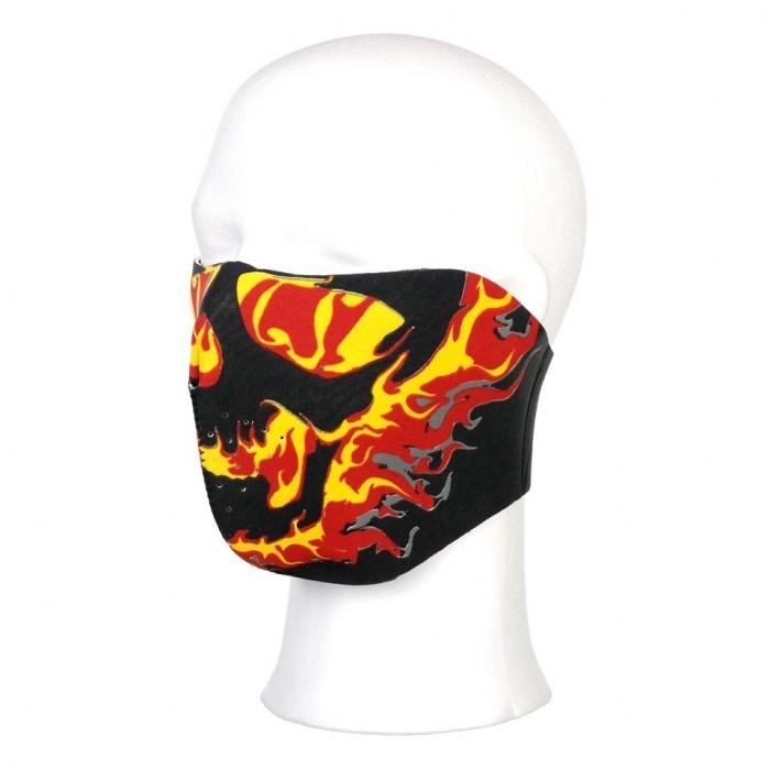 Maska na bicykel, plamene