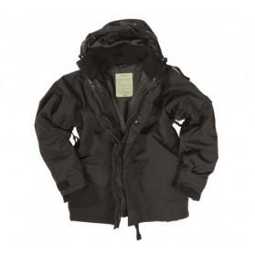 Zimná trojvrstvová nepremokavá bunda MIL-TEC, čierna