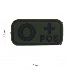Nášivka na suchý zips O + POZITÍVNY zelená
