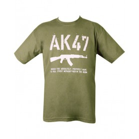 Tričko AK47, olive