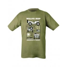 Tričko KOMBAT Willys Jeep, olive