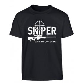Tričko Detské Sniper, čierne