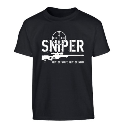 Tričko KOMBAT detské Sniper, čierne