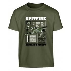 Tričko detské Spitfire, olive