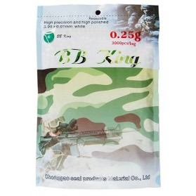 Airsoft. guličky BB King 0,20g, 4000ks, kal. 6mm