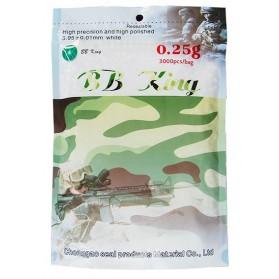 Guličky BB King 6mm, 0,25g, 3000ks