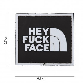 Nášivka PATCH 3D PVC HEY FUCK FACE