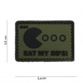 Nášivka PATCH 3D PVC EAT MY BB'S GREEN/BLACK
