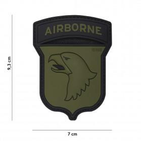 Nášivka PATCH 3D PVC AIRBORNE 101ST GREEN