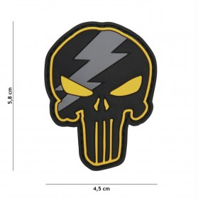 Nášivka PATCH 3D PVC PUNISHER THUNDER YELLOW