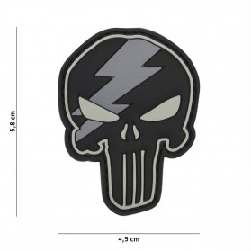 Nášivka PATCH 3D PVC PUNISHER THUNDER GREY