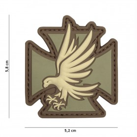 Nášivka PATCH 3D PVC IRON EAGLE COYOTE