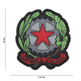 Nášivka PATCH 3D PVC ITALIAN STAR RED
