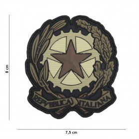 Nášivka PATCH 3D PVC ITALIAN STAR BROWN