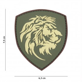 Nášivka PATCH 3D PVC DUTCH LION GREEN