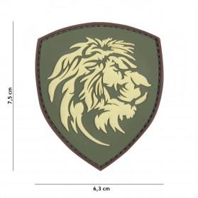 Nášivka PATCH 3D PVC DUTCH LION GREEN