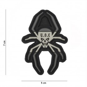 Nášivka PATCH 3D PVC SPANISCH SPIDER GREY