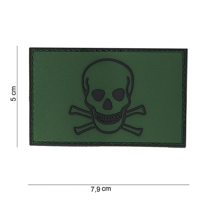 Nášivka PATCH 3D PVC PIRATE SKULL I