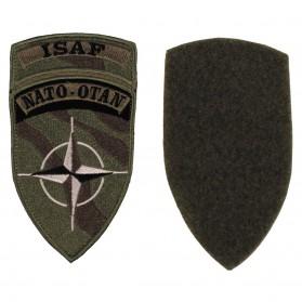 """Nášivka """"ISAF"""", NATO-OTAN green"""