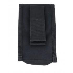 Nylonové KOMBAT púzdro na suchý zips, čierne