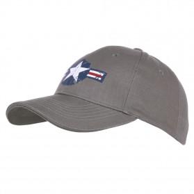 """Šiltovka """"Baseball"""" USAF WWII, šedá"""