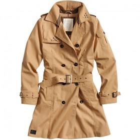 Dámsky kabát Trenchcoat , hnedý