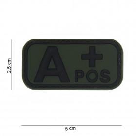 Nášivka na suchý zips A+ zelená