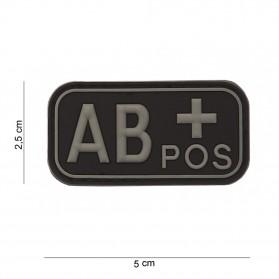 Nášivka na suchý zips AB+ čierna