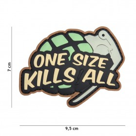 Nášivka PATCH 3D PVC ONE SIZE KILLS ALL