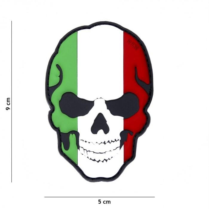 Nášivka PATCH 3D PVC SKULL ITALY