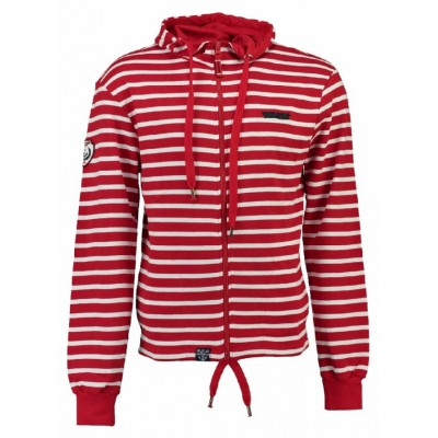 Mikina GEOGRAPHICAL NORWAY, Gennaro, red/white
