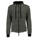 Mikina GEOGRAPHICAL NORWAY, Gennaro, black/off white