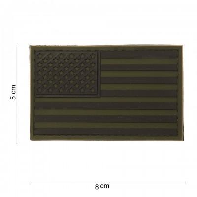 Nášivka  PATCH 3D PVC USA SUBDUED