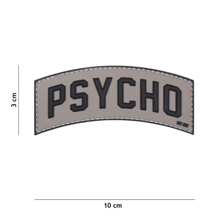 Nášivka PATCH 3D PVC PSYCHO GREY