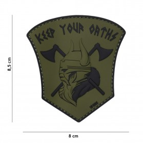Nášivka PATCH 3D PVC KEEP OUR OATHS GREEN