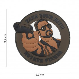 Nášivka PATCH 3D PVC TAKE YOUR HIT BROWN