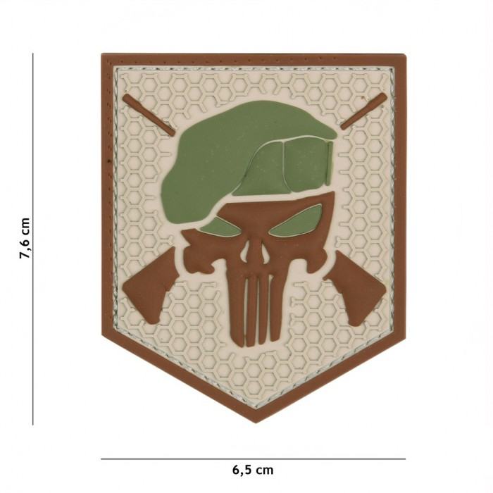 Nášivka PATCH 3D PVC COMMANDO PUNISHER COYOTE