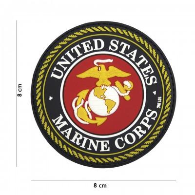 Nášivka PATCH 3D PVC UNITED STATES MARINE CORPS RED