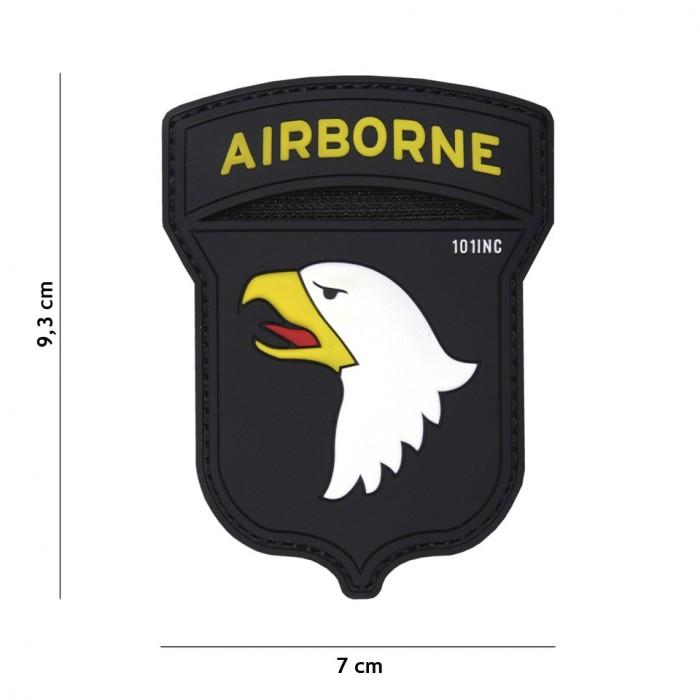 Nášivka PATCH 3D PVC AIRBORNE 101ST BLACK