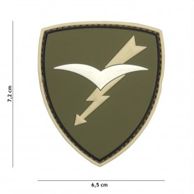 Nášivka PATCH 3D PVC PARATROOPERS BRIGADE FOLGORE GREEN
