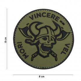 Nášivka PATCH 3D PVC MORI VINCERE VEL GREEN