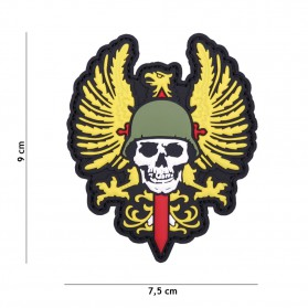 Nášivka PATCH 3D PVC SPANISH SKULL