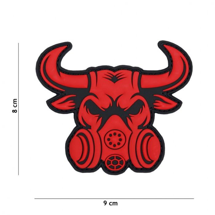 Nášivka PATCH 3D PVC GASMASK BULL RED