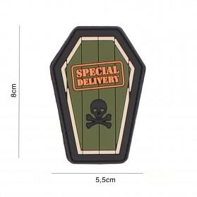 Nášivka PATCH 3D PVC SPECIAL DELIVERY GREEN
