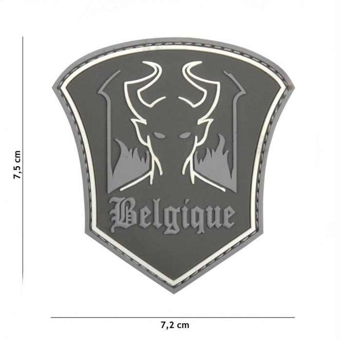 Nášivka PATCH 3D PVC BELGIQUE DEVIL GREY
