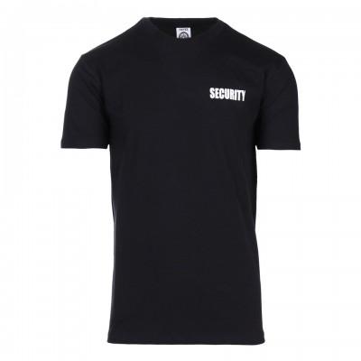 Tričko Security, čierne