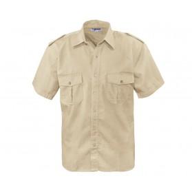 Commando košela pilotná, krátky rukáv, beige