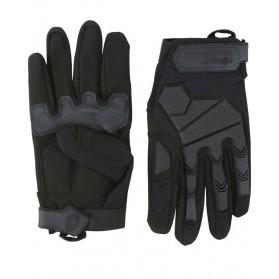 Taktické rukavice Alpha KOMBAT, čierne