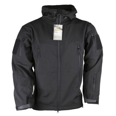 Bunda KOMBAT PATRIOT Tactical Soft Shell Jacket, čierna