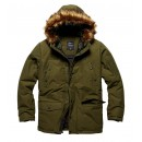 Bunda Vintage Industries Circle Parka, olive